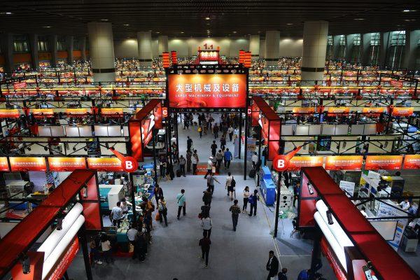 A la foire de Canton le 15 avril 2016. (Crédits : Zhu zixing / Imaginechina / via AFP)
