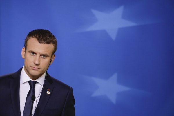 Le Président de la République française Emmanuel Macron lors d'un sommet européen à Bruxelles, le 23 juin 2017.