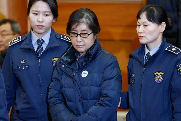 Choi Soon-sil à son arrivée au tribunal le 16 janvier 2017.