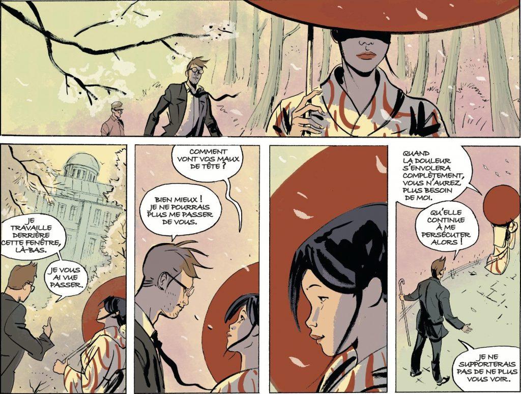 """Extrait de la bande dessinée """"Hibakusha"""", Scénario Thilde Barboni, dessin Olivier Cinna, 64 pages, Aire Libre. (Copyright : Aire Libre)"""