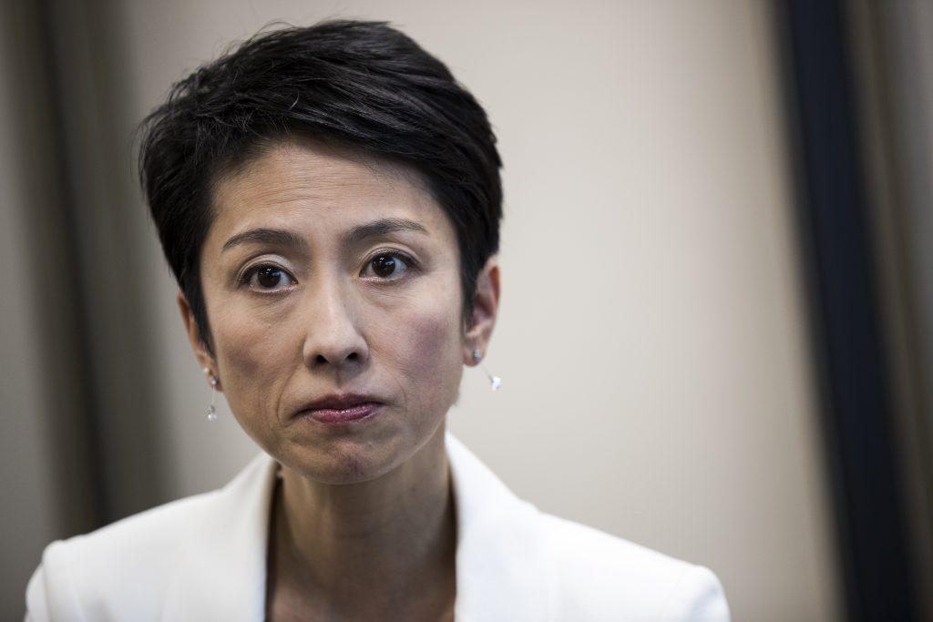 Renho Murata, leader du parti démocrate progressiste au Japon le 2 février 2017. (Crédits : AFP PHOTO / Behrouz MEHRI)