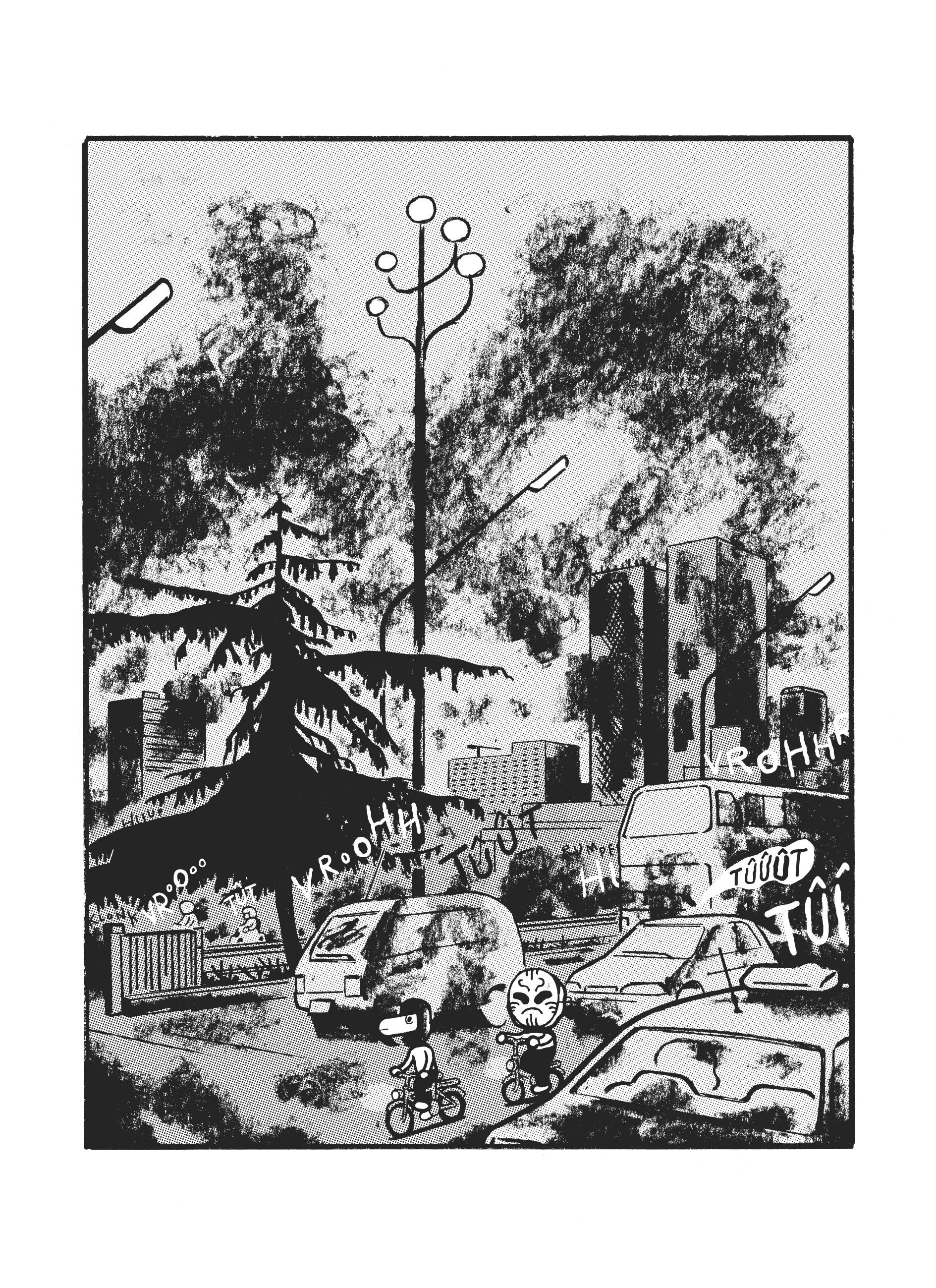 """Extrait de la bande dessinée """"En Chine"""", scénario et dessin Sascha Hommer, 176 pages, Atrabile."""
