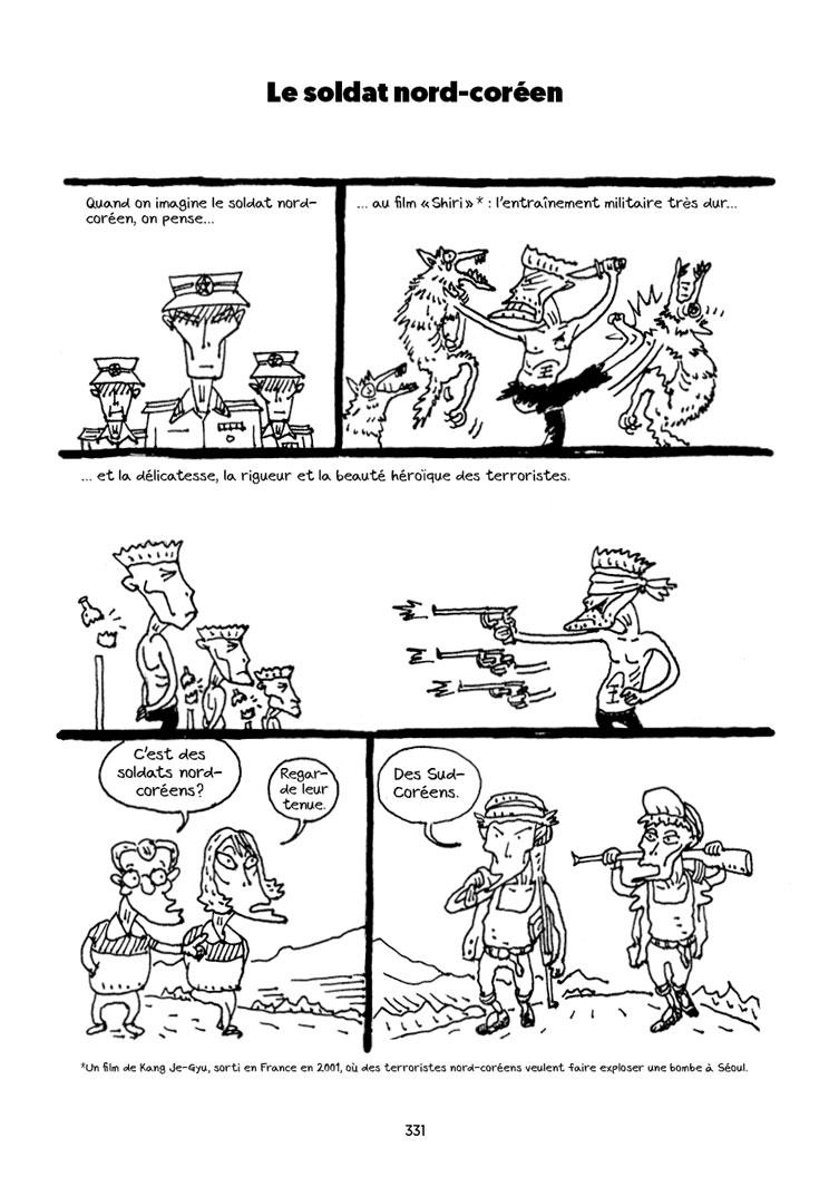 """Extrait de la bande dessinée """"Le visiteur du sud"""", Scénario et dessin Oh Yeong Jin. Editions Flblb."""