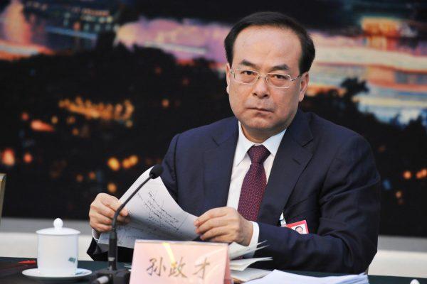 Le désormais ancien chef du Parti de la municipalité de Chongqing, Sun Zhengcai.