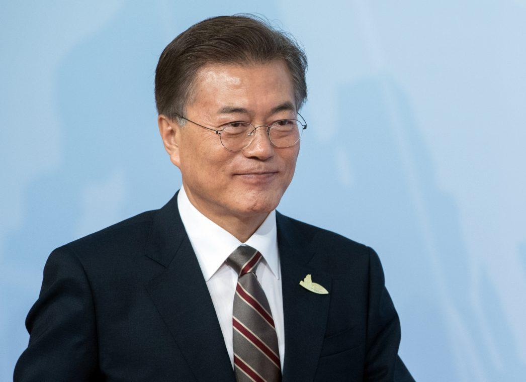 e président sud-coréen Moon Jae-in lors de son arrivée à Hambourg pour la tenue du sommet du G20.
