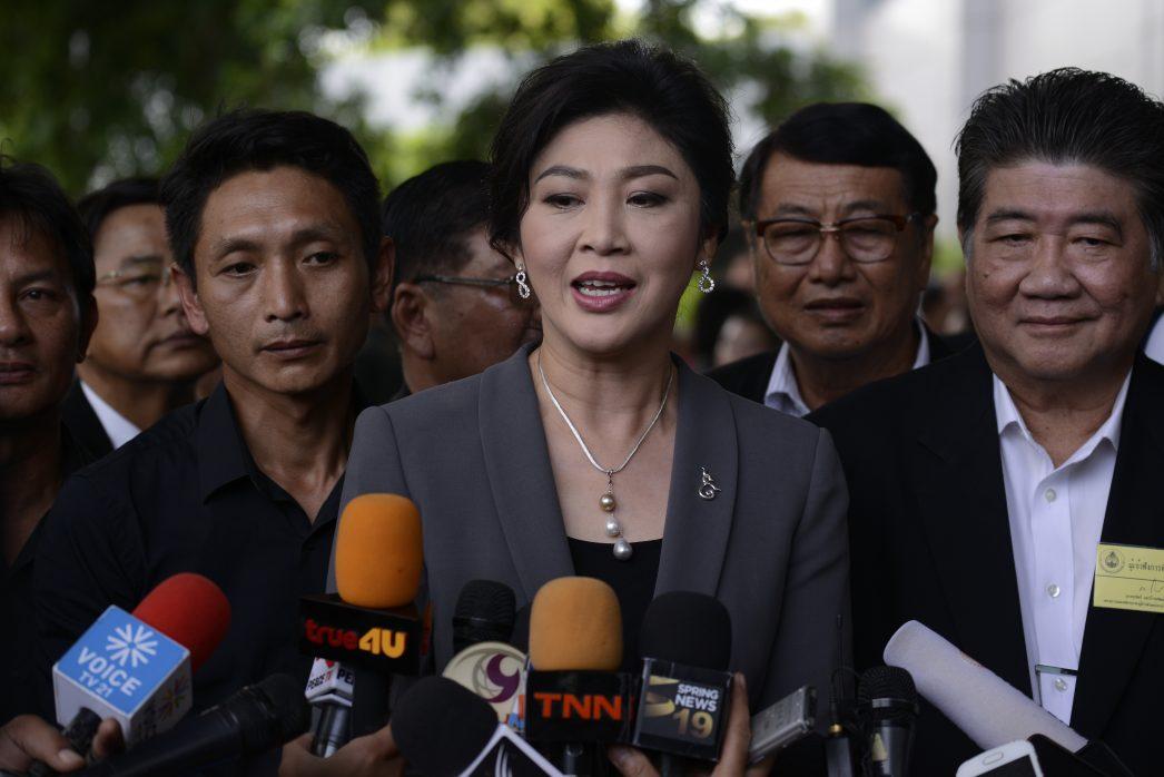 Yingluck Shinawatra à son arrivée devant la Cour suprême le 7 juillet 2017.