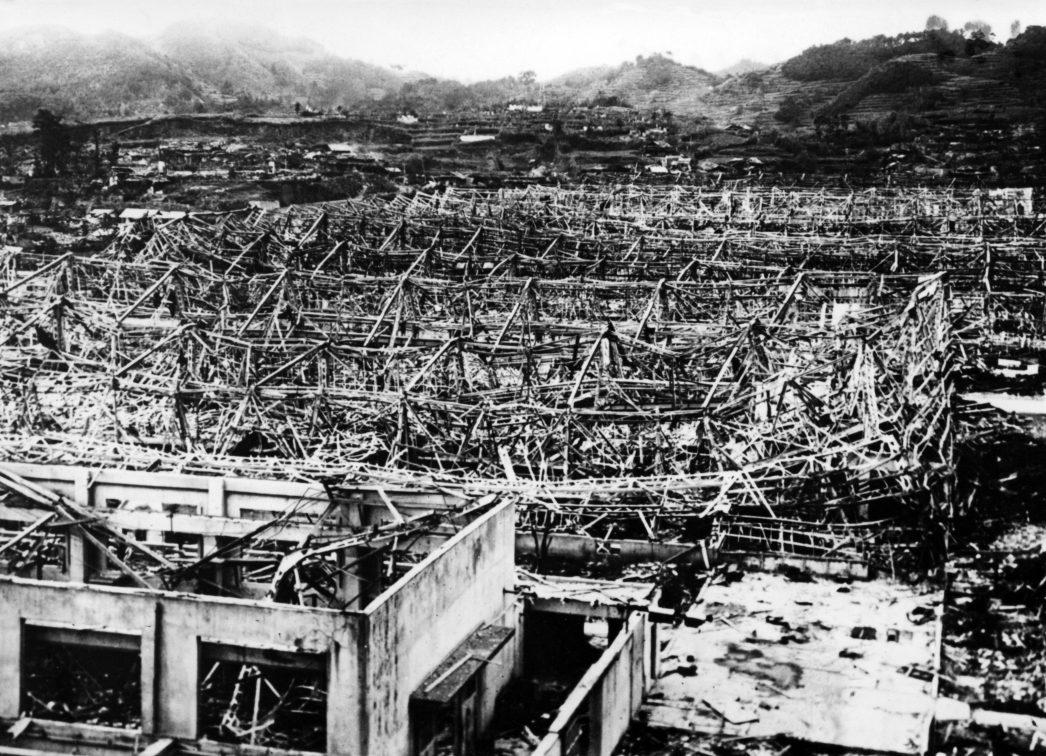 La ville de Nagasaki peu après le bombardement le 9 août 1945.