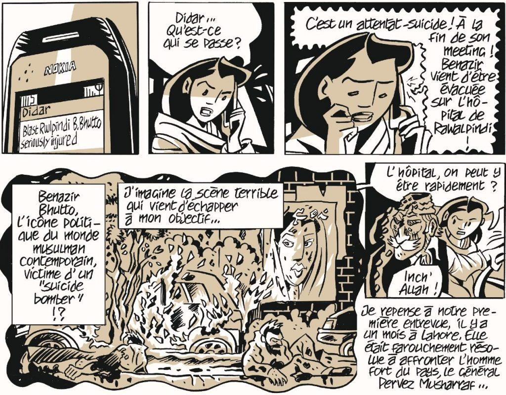 """Extrait de la bande dessinée """"Le pays des purs"""", scénario de Sarah Caron, adaptation et dessin par Hubert Maury, La Boîte à Bulles. (Copyright : La Boîte à Bulles)"""
