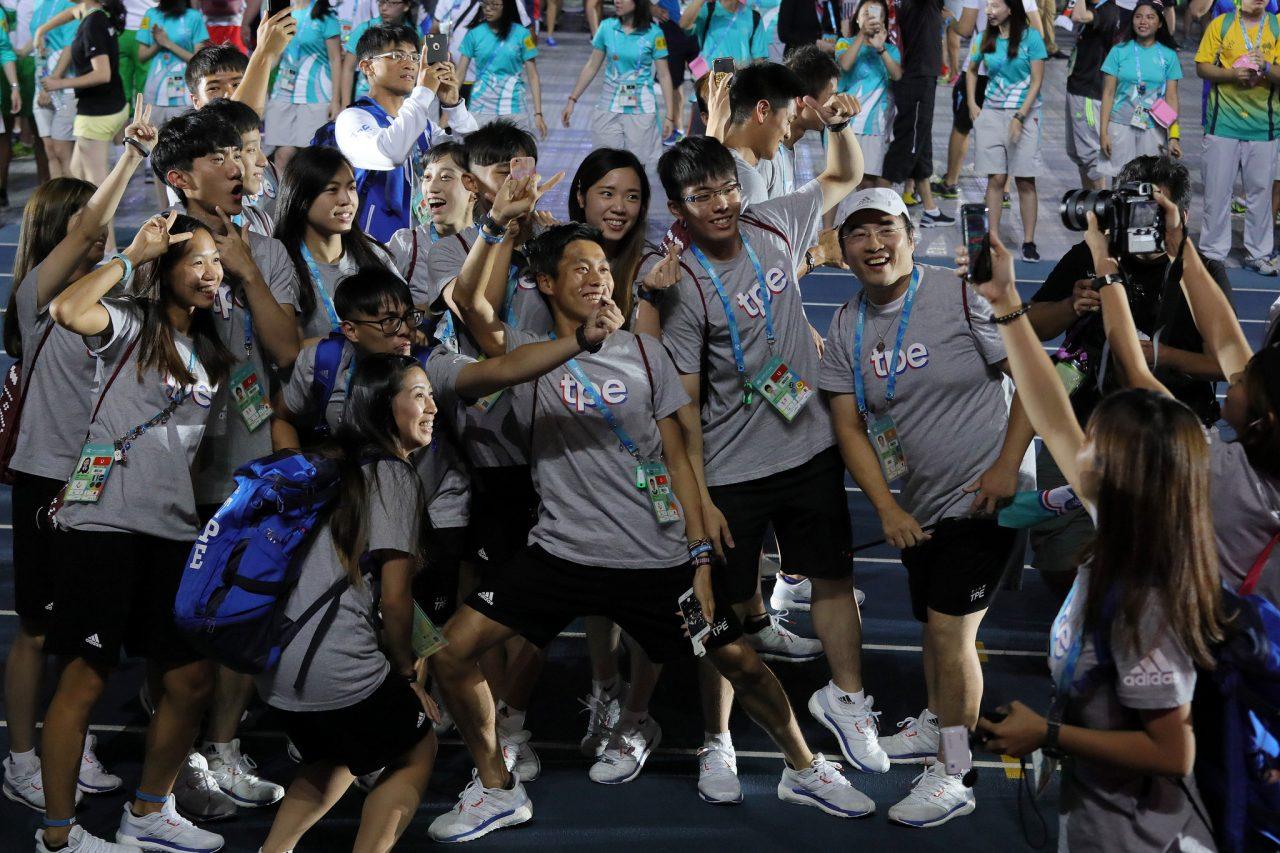"""Les athlètes taïwanais concourent sous le nom de """"Taipei chinois"""" (TPE) et ne sont pas autorisés à brandir le drapeau de la République de Chine (Taïwan). (Crédit : Présidence de la République de Chine - Taïwan)"""