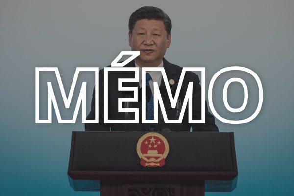 Le président chinois Xi Jinping prend la parole au sommet des BRICS tenu à Xiamen (province du Fujian), en septembre 2017. (Crédit : FRED DUFOUR / POOL / AFP)