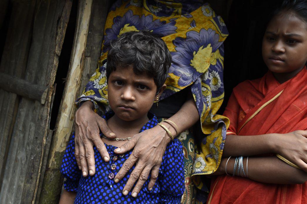 Hasina, une jeune fille Rohingya installée dans le camp de réfugiés de Kutupalong au Bangladesh, le 23 septembre 2017.