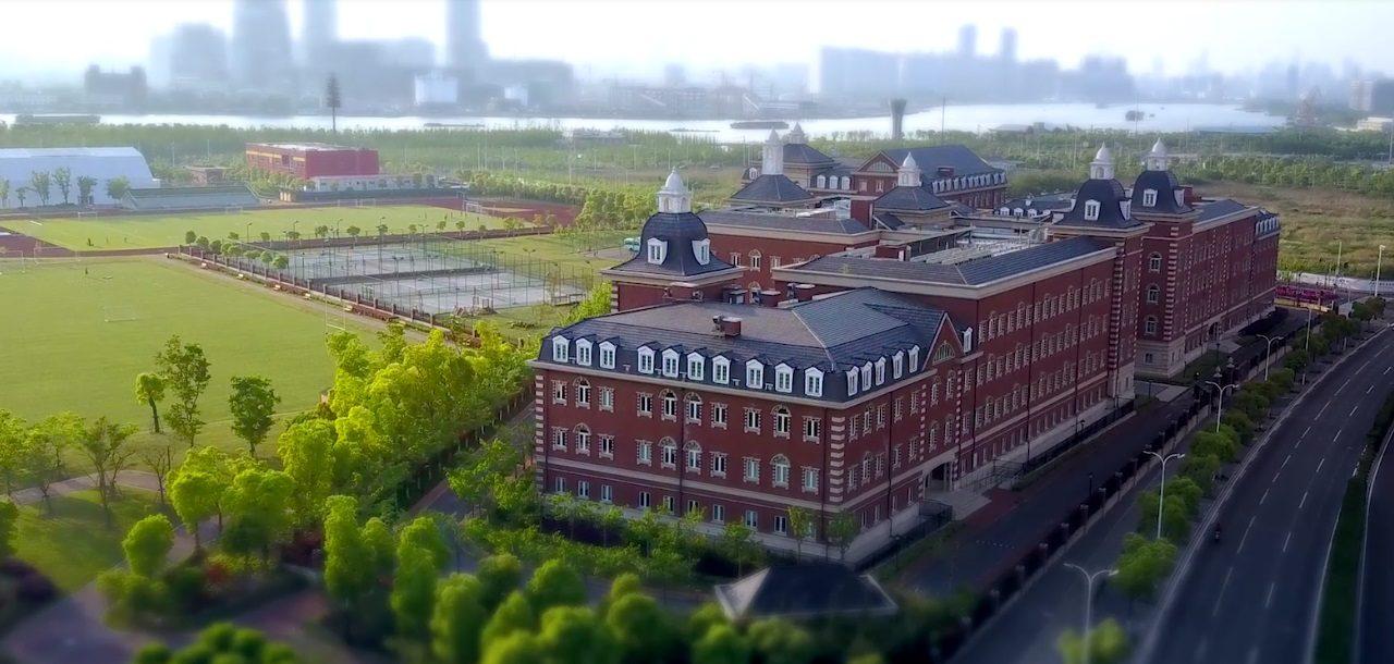 Aperçu du campus du Wellington College International à Shanghai.
