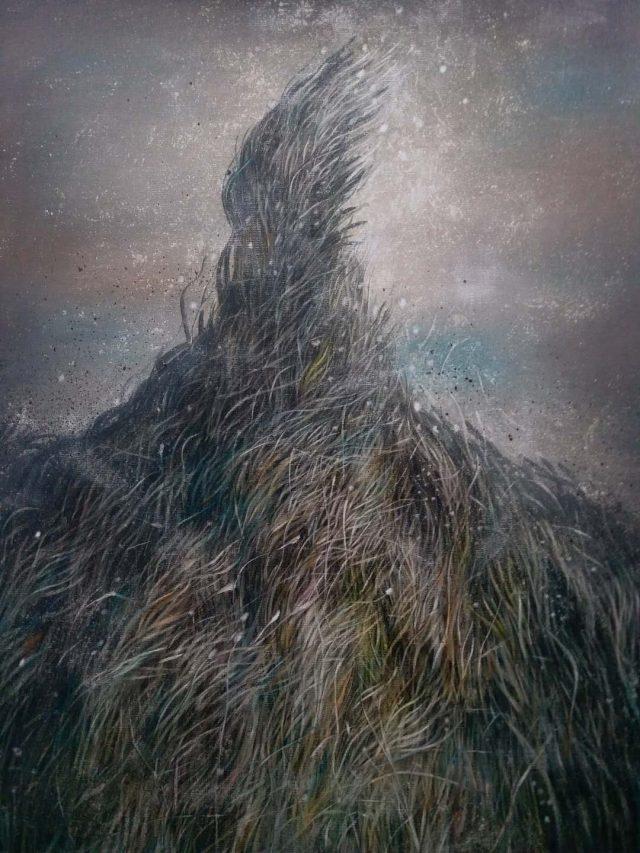 """""""Tiao Wu Cao"""", """"Les Herbes dansantes"""", peinture à l'huile, 2017. (Crédits : KunBu Lei)"""