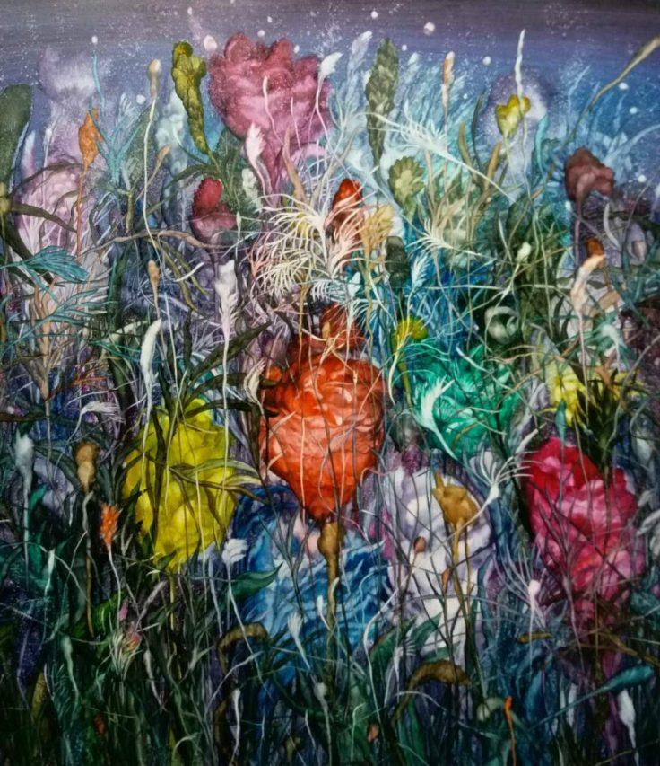 """Meng Jing Yuan"", ""Jardin des rêves"". Peinture à l'huile, 2017. (Copyright : KunBu Lei)"
