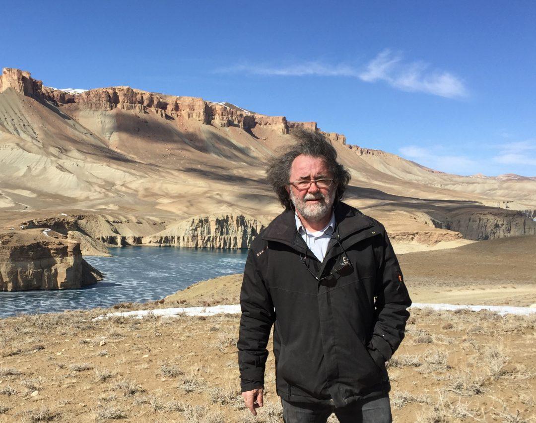 Le plasticien Pascal Convert en Afghanistan en 2016. (Crédit : DR)