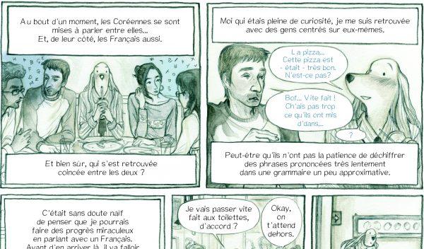 """Extrait de la bande dessinée """"Je ne suis pas d'ici"""", scénario et dessin de Yunbo, 152 pages, Warum. (Copyright : Warum)"""