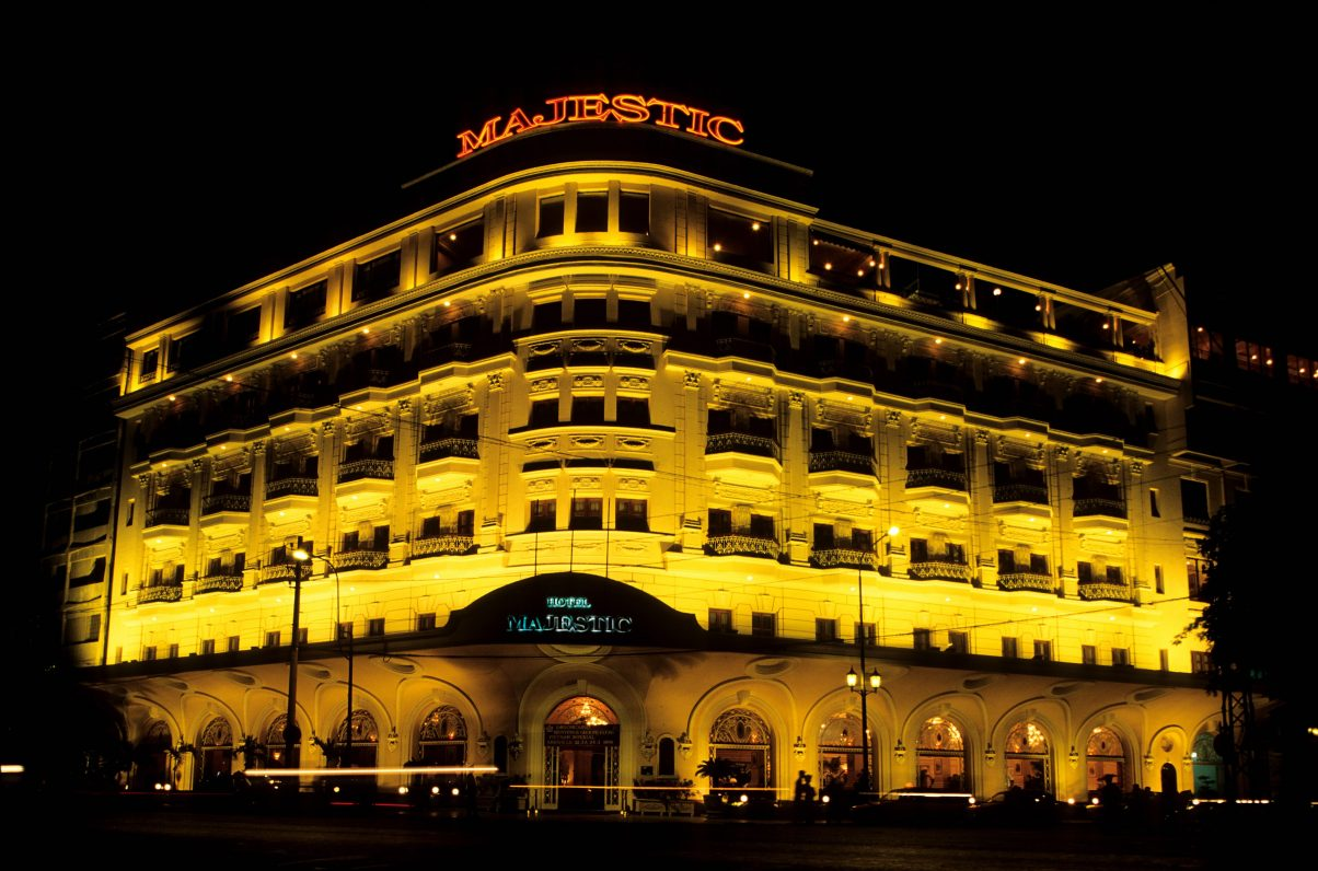 Le Majestic Hotel à Saïgon (Hö-Chi-Minh-Ville) au Vietnam. (Crédits : GARDEL Bertrand / Hemis / via AFP)