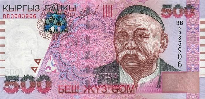 Le manaschy Sayakbay Karalaev figure sur les billets kirghizes de 500 soms. (Crédit : domaine public)