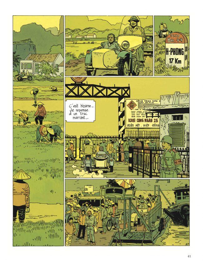 """Extrait de """"Saïgon-Hanoï"""", par Cosey, éditions Dupuis. (Crédit : Dupuis)"""