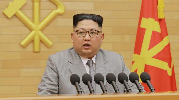 Le dirigeant nord-coréen Kim Jong-un le 1er janvier 2018 à Pyongyang. (Source : BFM TV)