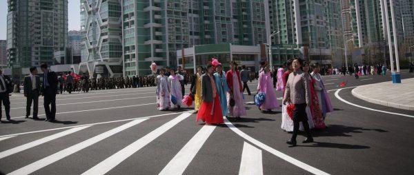 Les nouvelles tours résidentielles à Pyongyang, qui a connu un boom récent de la construction. (Source : New York Times)