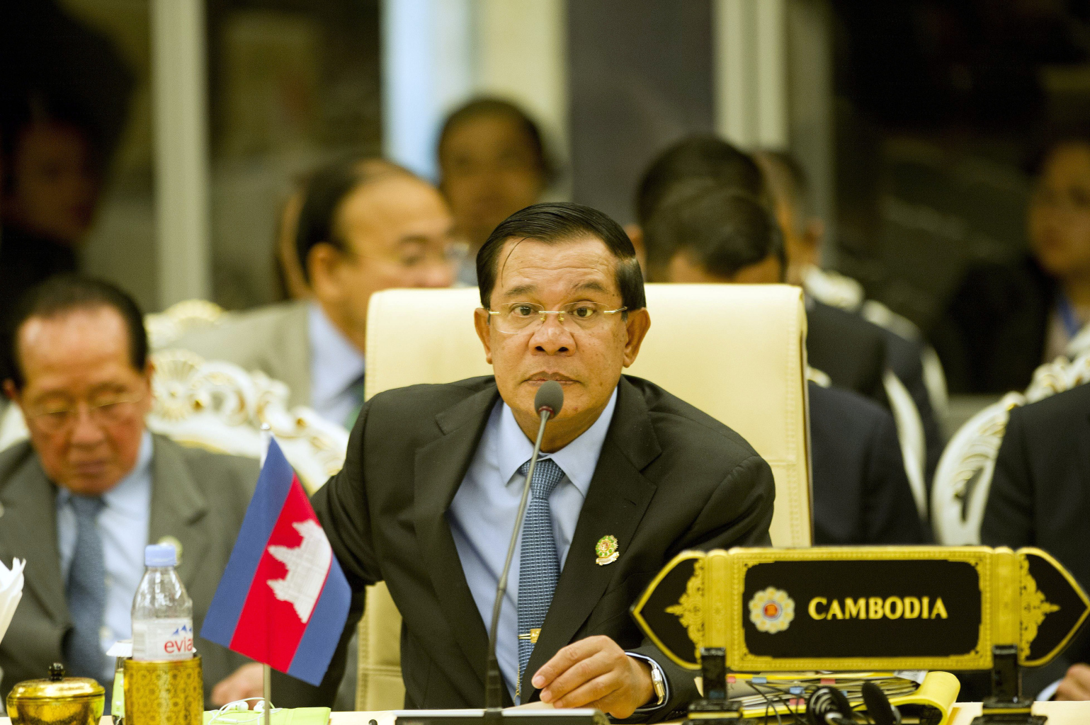 Le Premier ministre cambodgien Hun Sen lors du 17ème sommet ASEAN-Chine au Myanmar International Convention Center à Naypyidaw le 13 novembre 2014. (Source : Foreign Policy)
