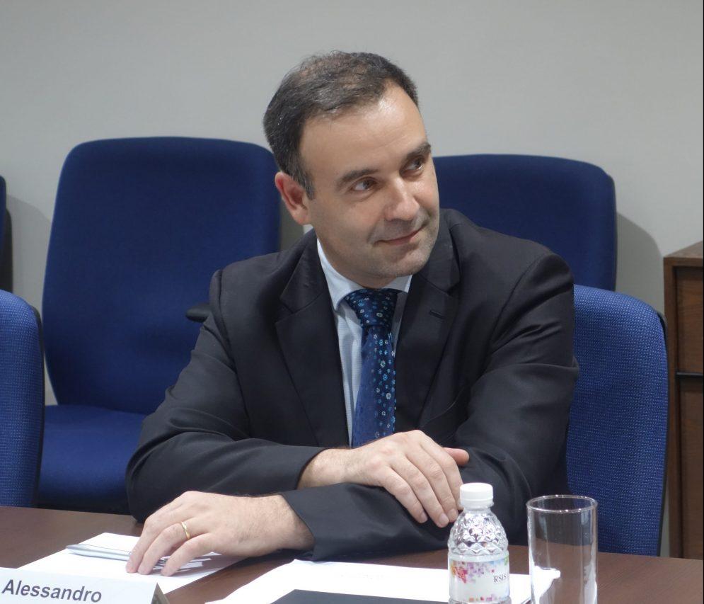 Le chercheur italien Alessandro Arduino. (Source : RSIS)