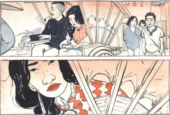 """Extrait de la """"La trilogie de la Citadelle, Tome 2 : Rives d'automne"""", scénario d'Anne Opotowsky et dessin d'Angie Hoffmeister, Urban China, 464 pages. (Copyright : Urban China)"""