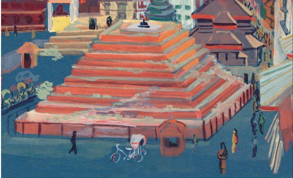"""Extrait de la bande dessinée """"Debout Népal, Carnet de route d'une école à reconstruire"""", textes et dessins de Maëlle Joly et Sophie Raynal, 144 pages, La Boîte à Bulles. (Copyright : La Boîte à Bulles)"""