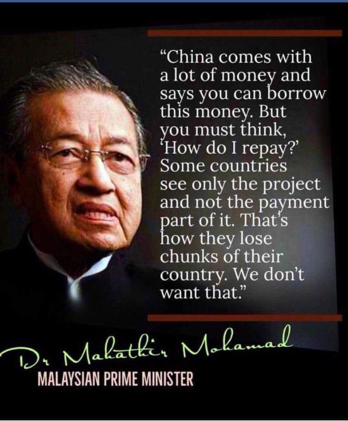 Mahathir Mohamed et les investissements chinois en Malaisie. (Crédits : DR)