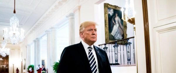 Le président américain Donald Trump à la Maison Blanche. (Source : Wired)