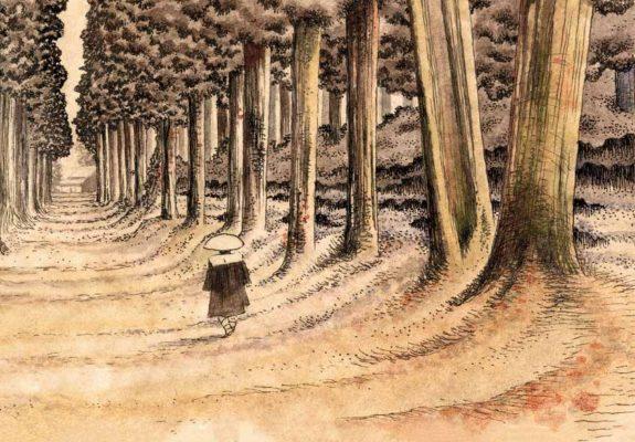 """Extrait de la bande dessinée """"Les cahiers japonais, le vagabond du manga"""", scénario et dessin Igort, Futuropolis. (Copyright : Futuropolis)"""