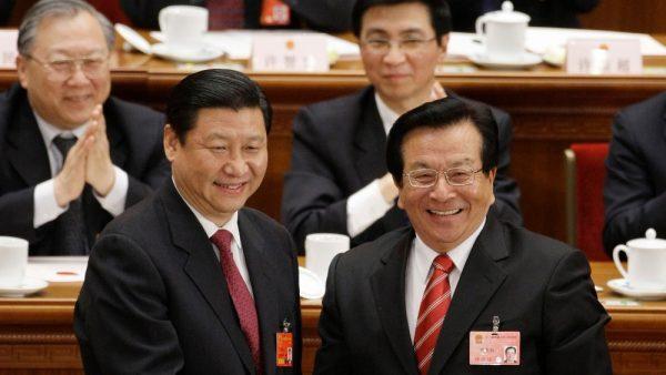 """Le président chinois Xi Jinping a presque terminé d'éliminer politique la """"bande du Jiangxi"""" menée par Zeng Qinghong, ex-vice-président. (Source : ITV)"""
