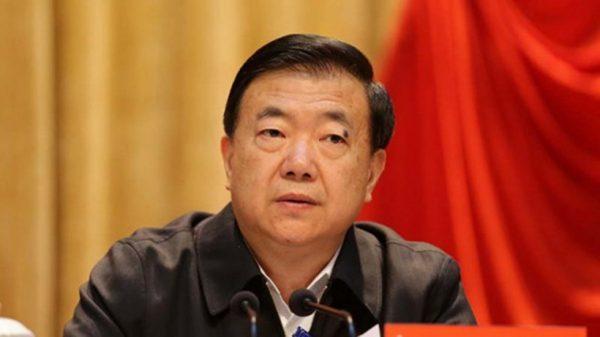 Wang Sanyun, ancien chef du parti de la province du Gansu, inculpé puis exclu du PCC en 2017. (Source : South China Morning Post)