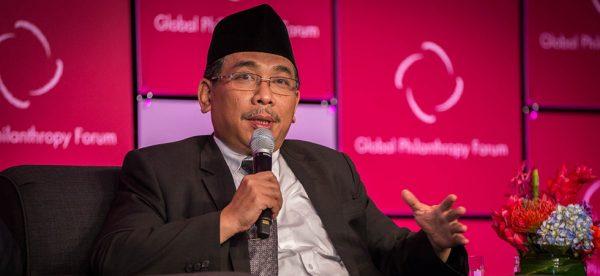 Yahya Cholil Staquf, le secrétaire général de la Nahdlatul Ulama, la plus grande organisation non gouvernementale islamique indonésienne – et du monde - avec cinquante millions de membres revendiqués. (Source : NYU Arts and Sciences)