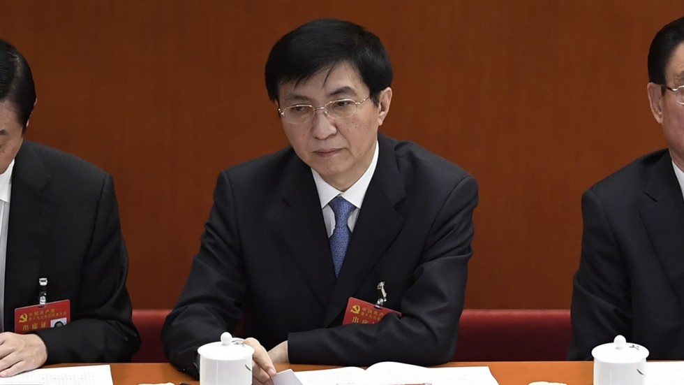 Wang Huning, membre du comité permanent du Politburo et directeur du bureau central de recherches politiques. (Source : South China Morning Post)
