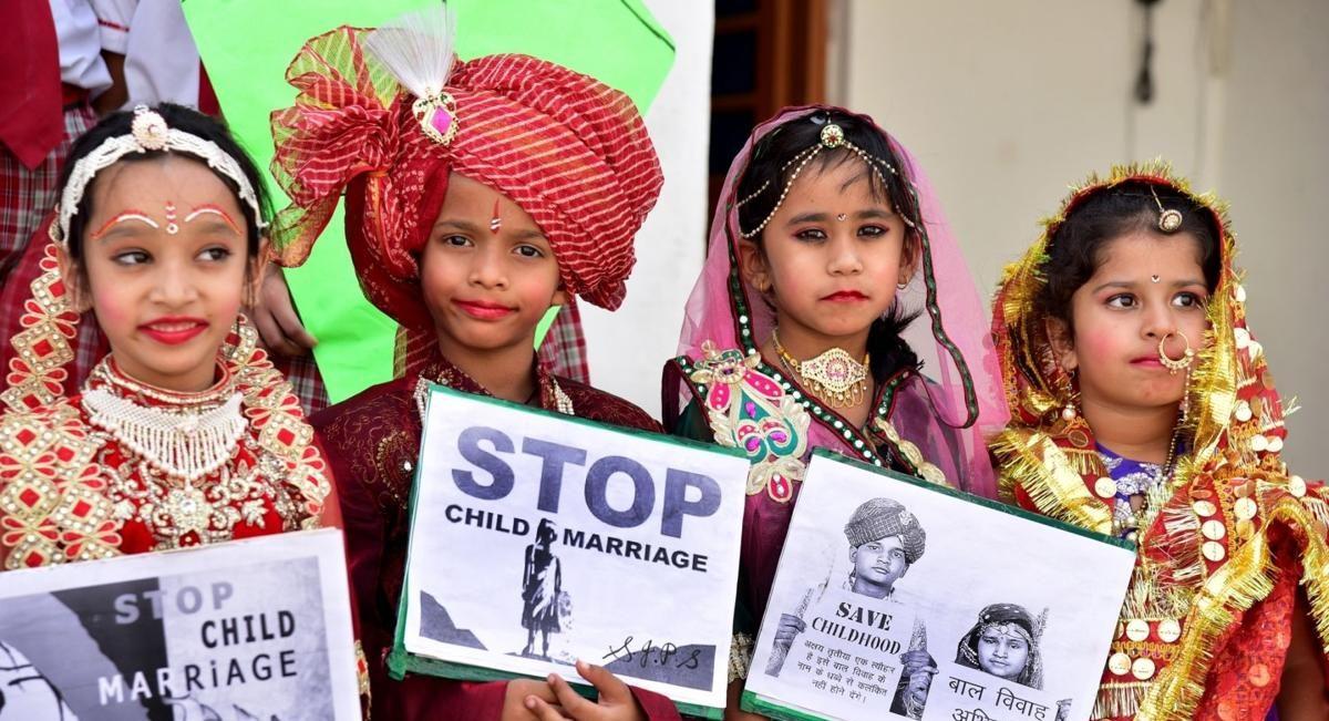 Campagne contre le mariage d'enfants au Rajasthan dans le nord de l'Inde. (Source : The Samaja)