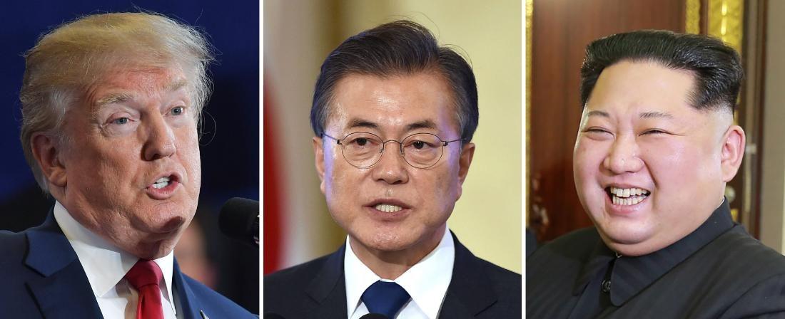 Kim Jong-un et Moon Jae-in se retrouveront à Pyong du 18 au 20 septembre 2018. Après les belles promesses du sommet de Singapour le 12 juin dernier, Donald Trump n'est pas prêt de s'y rendre (Source : ZNewsFirst)