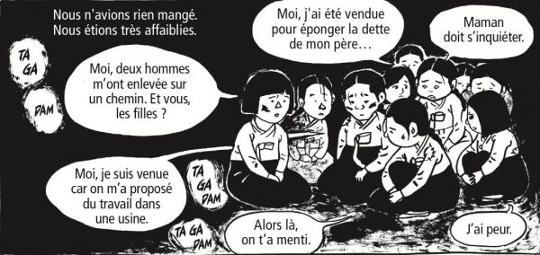 "Extrait de la bande dessinée ""Les mauvaises herbes"", Scénario et dessin Keum Suk Gendry-Kim, 488 pages, Delcourt. (Copyright : Keum Suk Gendry-Kim. Rights arranged by Han Agency Co. & Nicolas Grivel Agency.All rights reserved. © 2018 Groupe Delcourt pour la version française)"