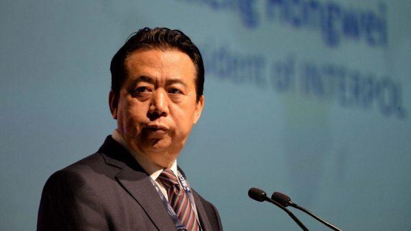 """Meng Hongwei, président d'Interpol jusqu'à sa """"démission"""" le 7 octobre 2018, était un ancien lieutenant de Zhou Yongkang, tsar de la sécurité publique en Chine et cible de la campagne anti-corruption lancée par Xi Jinping en 2013. (Source : News.com.au)"""