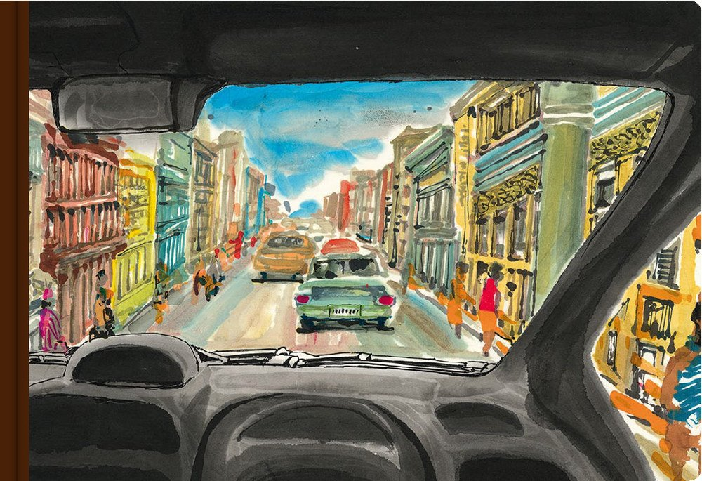 "Couverture de l'ouvrage ""Cuba"", dessin Li Kunwu, Louis Vuitton Travel Book. (Copyright : Louis Vuitton Travel Book)"