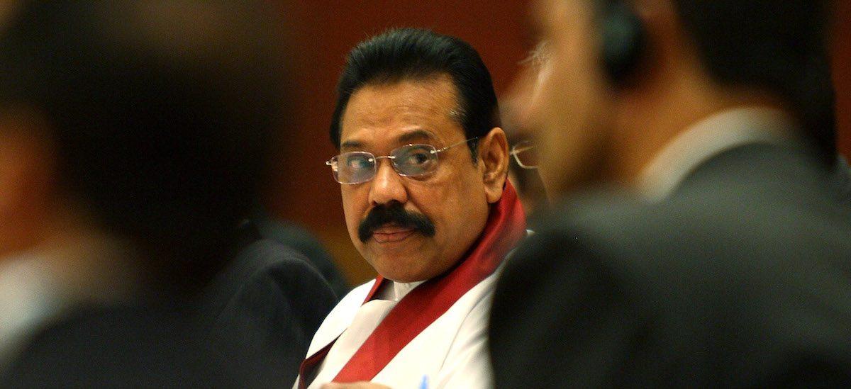 L'ancien président sri-lankais Mahinda Rajapaksa a été nommé Premier ministre le 27 octobre 2018. (Source : The Print)