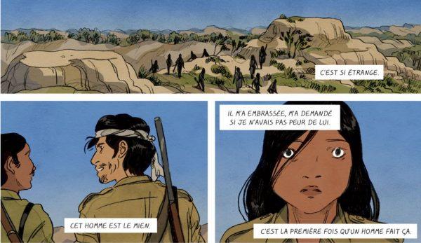 """Extrait de la bande dessinée """"Phoolan Devi, reine des bandits"""", scénario et dessin Claire Fauvel, Casterman. (Copyright : Casterman)"""