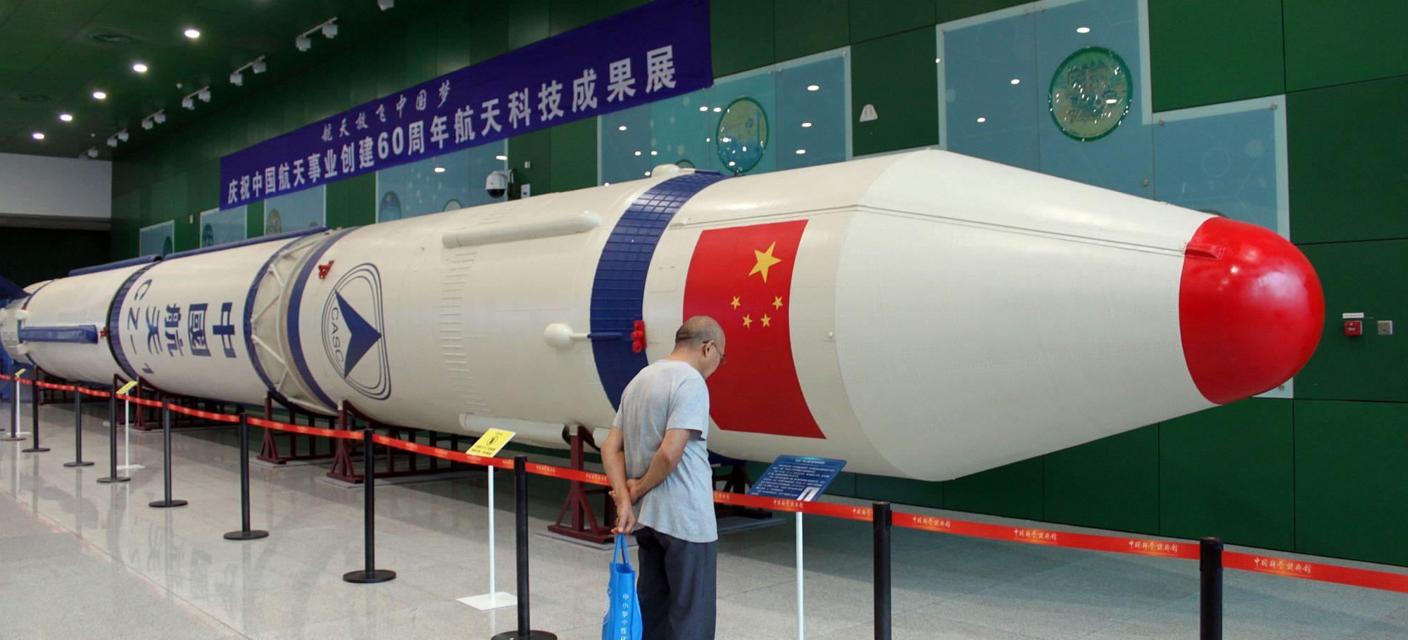 """La fusée chinoise """"Longue Marche"""". (Source : CGTN)"""