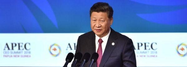 Le président chinois Xi Jinping au sommet de l'APEC, le Forum de coopération économique de l'Asie-Pacifique, à Port-Moresby le 17 novembre 2018. (Source : CNN)