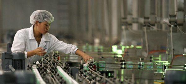Dans l'une des usines de Yili, géant chinois du lait, dont les produits ont été incriminés dans le scandale de la contamination à la mélamine en 2008. (Source : South China Morning Post)