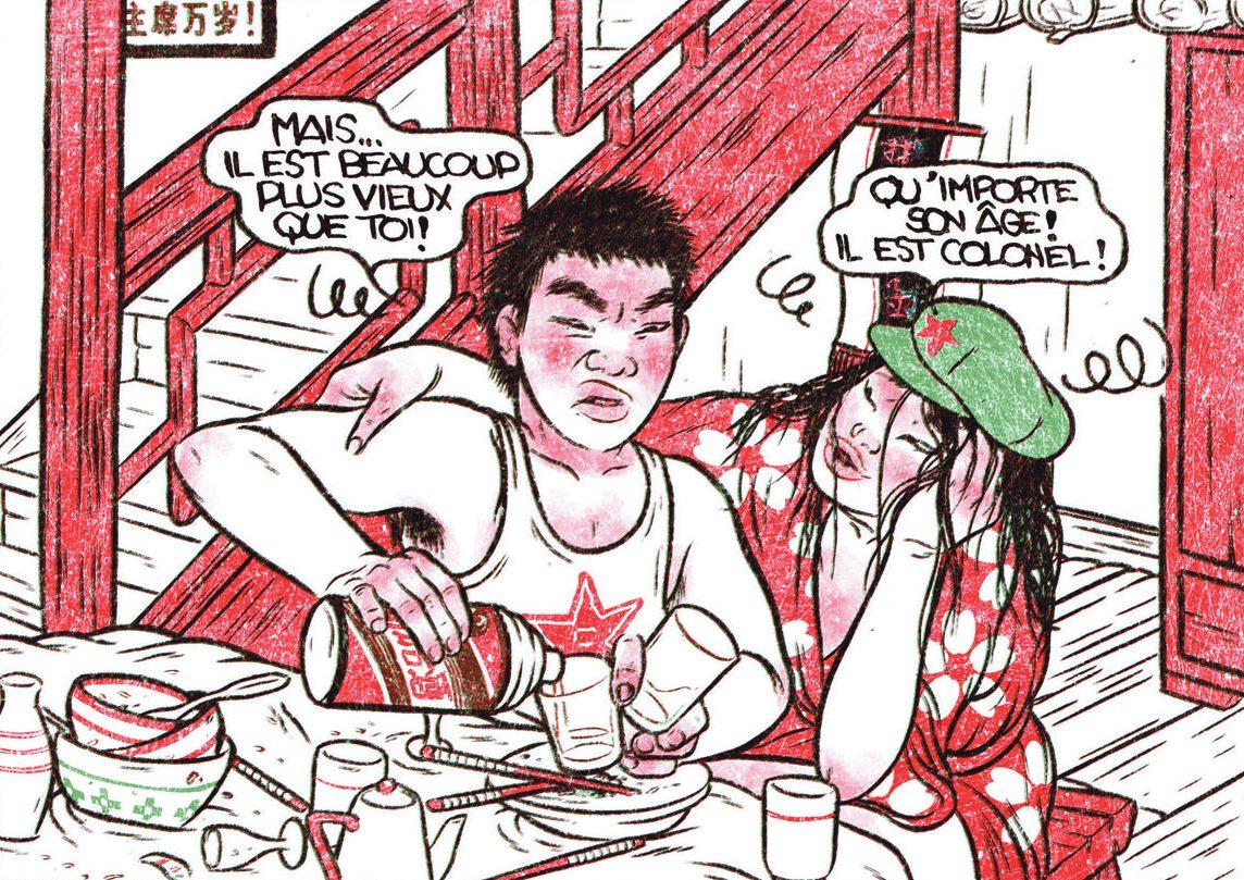 """Extrait de la bande dessinée """"Servir le peuple"""", scénario et dessin d'Alex W. Inker, Éditions Sarbacane. (Copyright : Sarbacane)"""