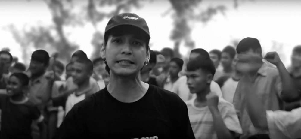 "Extrait du clip ""Prathet Ku Mee"" par Rap against the Dictatorship. (Source : The Nation)"