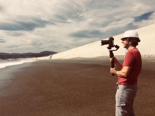 """Making of du documentaire de Marie Linton, """"La grande muraille du Japon"""". (Crédit : Marie Linton)"""