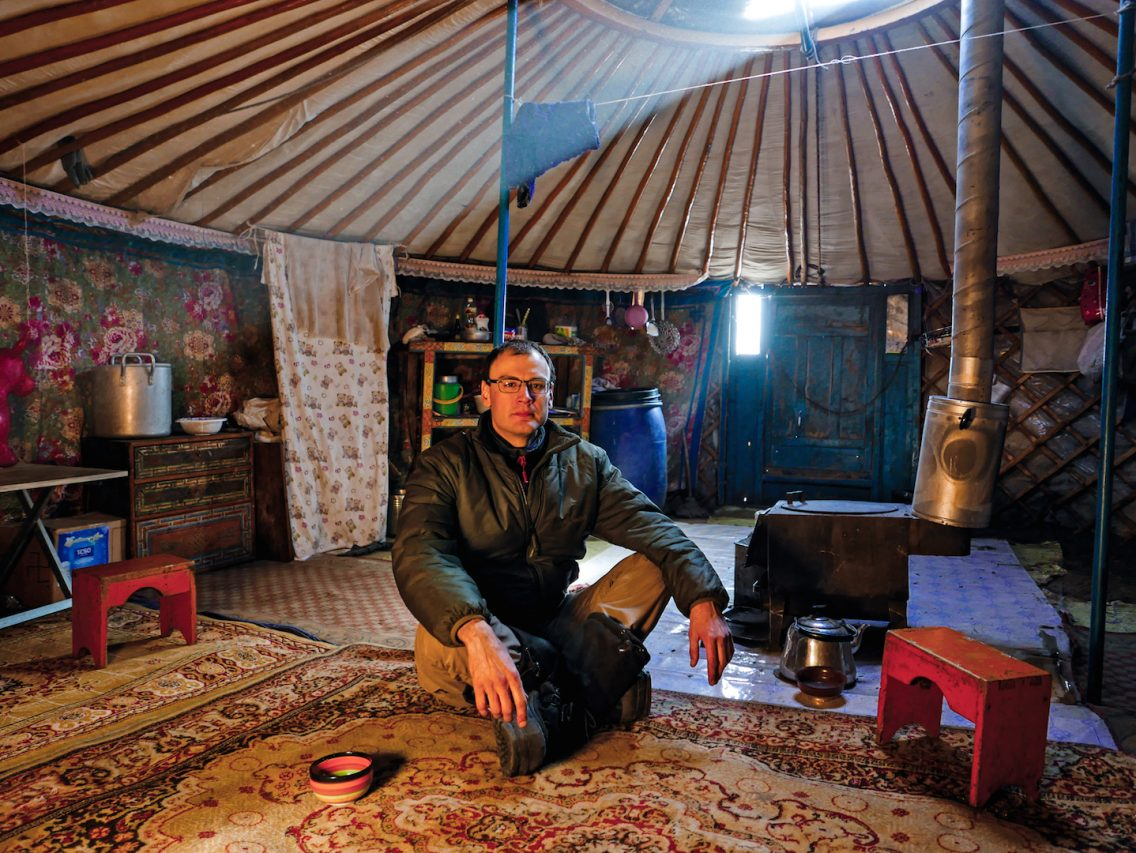 Marc Alaux, grand voyageur en Mongolie, écrivain et éditeur français. (Crédits : Marc Alaux)